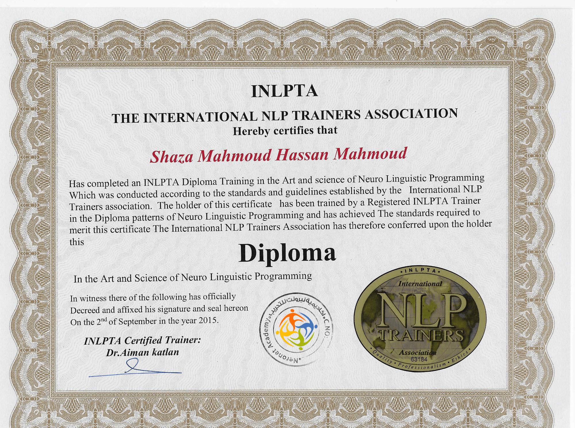 shaza-Neuro-linguistic programming-nlp-inlpta-neronet