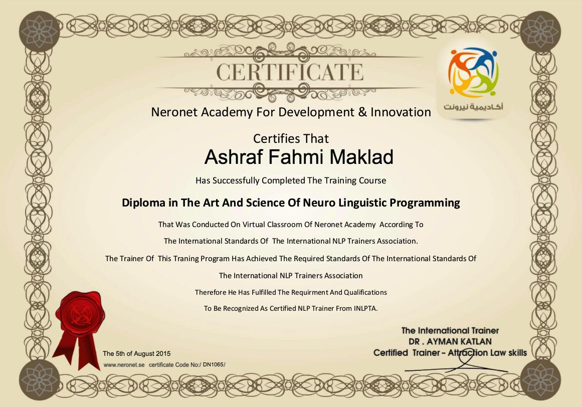 DN1065 Ashraf Fahmi Maklad