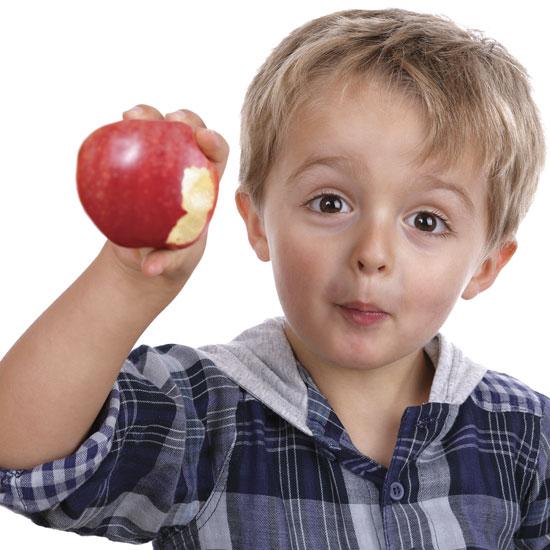 التفاح والخوخ